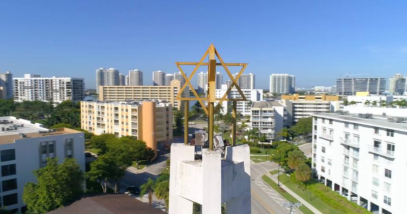 aerial orbit Jewish star of David