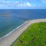 Aerial drone video North Point Hutchinson Island Florida