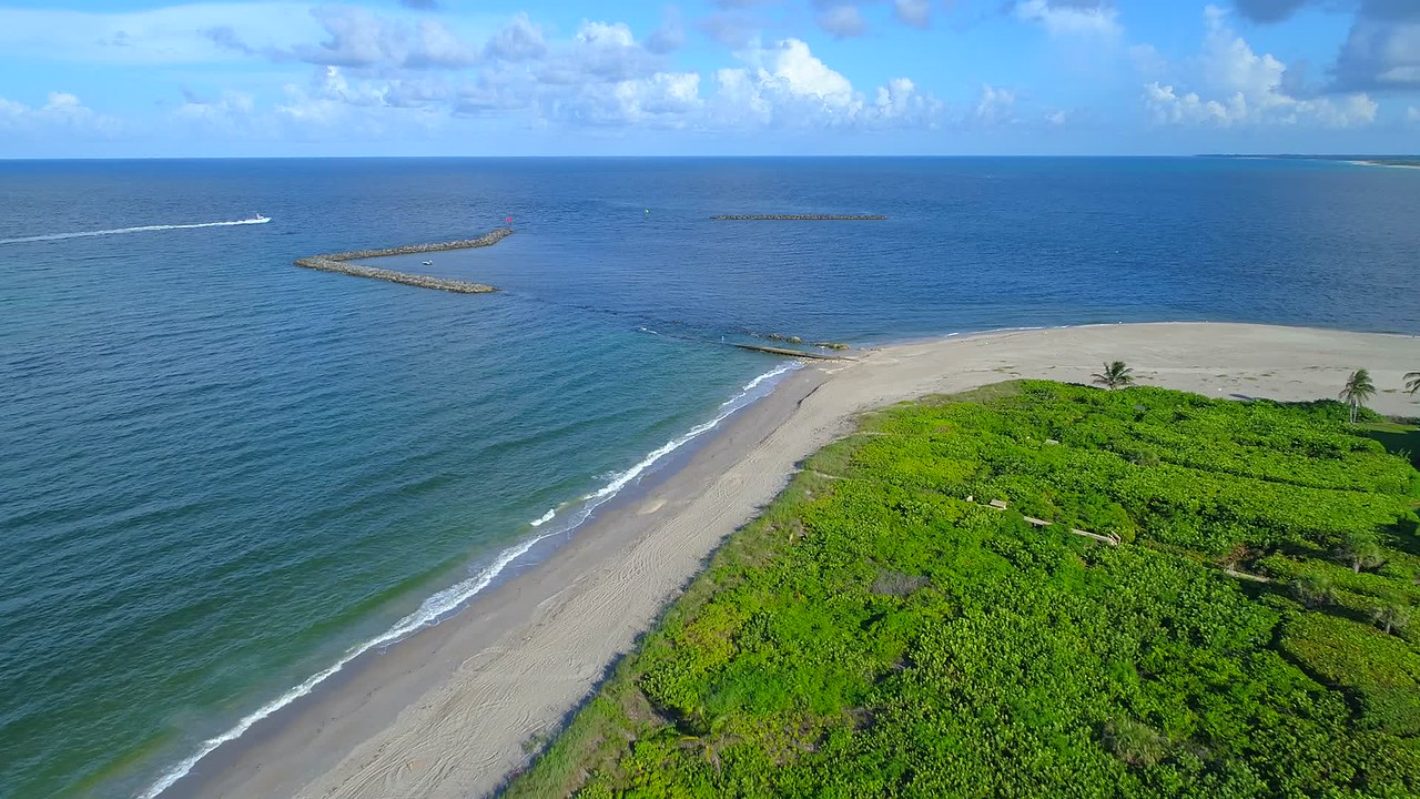 Aerial drone video North Point Hutchinson Island Florida