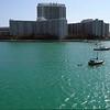 Aerial video Miami Beach bayfront condos and resorts