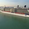 Aerial video cruise ships port miami florida usa