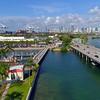 Aerial Miami Beach Terminal Island 4k