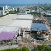 Drone video Miami Beach Convention Center construction 4k 60p