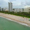 Beach cabana Miami Florida aerial video 4k 60p
