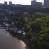 Aerial video Edgewater homes New Jersdey