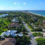 Drone flying over homes on Hutchinson Island