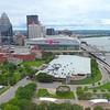 Aerial video Downtown Louisville Kentucky 4k