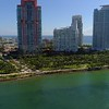 Miami Beach stock video highrise condominiums