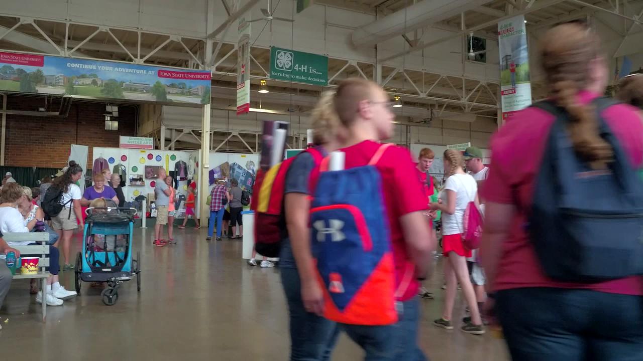 Iowa State Fair expo booths