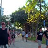Tourists and homeless people in Waikiki Hawaii