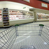 Shopping cart pov supermarket