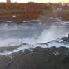 Aerial tour Niagara Falls waterfall 4k