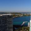 Static aerial view of Miami Beach Southwest