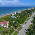 Aerial Macarthur Boulevard Hutchinson Island Florida 4k