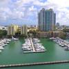 Aerial drone Miami Beach Marina