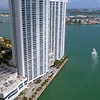 Aerial Port Miami and highrise architecture