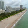Aerial video hotels on Miami Beach 4k 60p