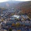 Aerial video tour Gatlinburg Tennessee USA