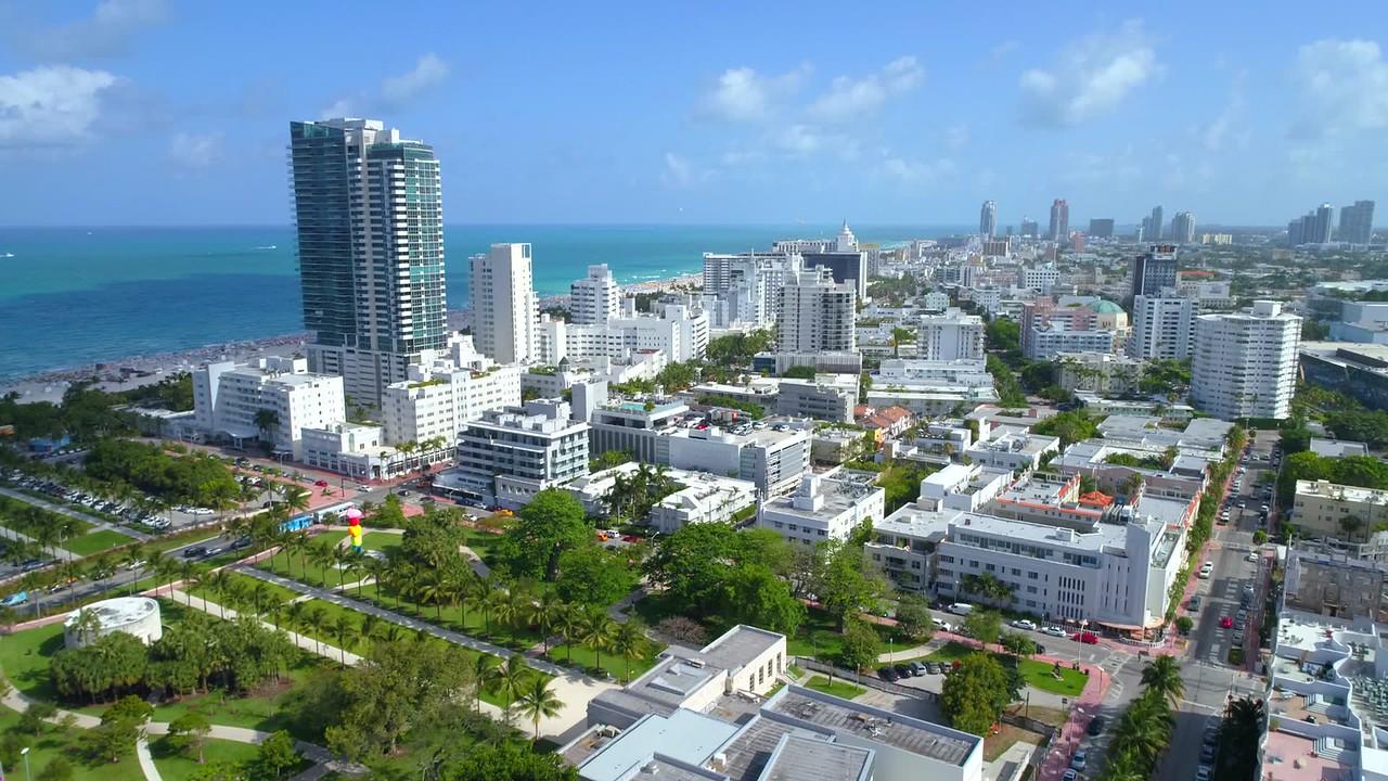 Helicopter tour Miami Beach 4k 60p