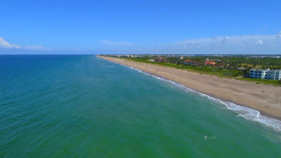 Jensen Beach Hutchinson Island Stuart Florida 4k drone aerial video
