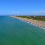 Jensen Beach Hutchinson Island Stuart Florida 4k drone aerial video