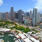 Establishing aerial video Downtown Miami Florida 4k