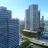 Aerial reveal Miami Beach Macarthur Causeway 4k 60p