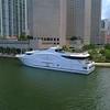 Aerial video Seafair Yacht Downtown Miami 4k 60p