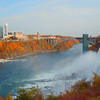 Niagara Falls between Canada and the US