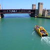 Aerial 4k 60p video boat tour Chicago