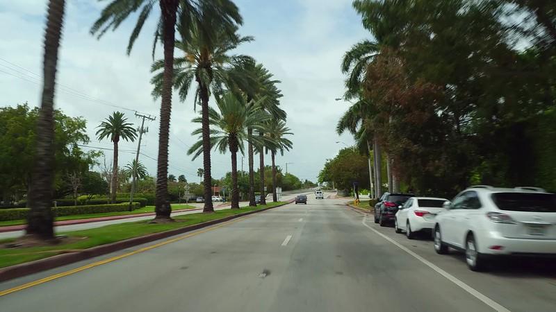 Stock video Alton Road Miami Beach