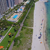 Aerial video of Luxury beachfront condos Miami
