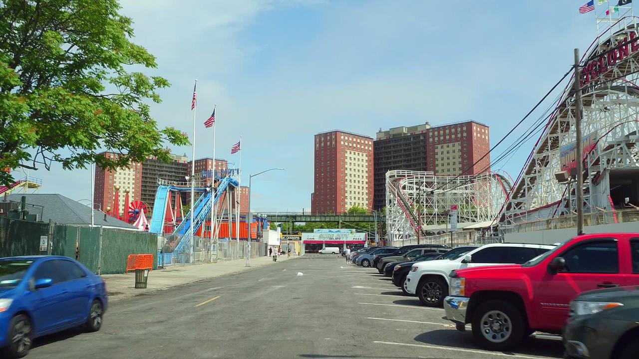 Street scene Coney Island NY