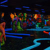Neon Miniature Golf under black light