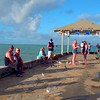 Tourists on the Waikiki Wall