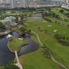 Aerial video Golf course club house Hallandale FL