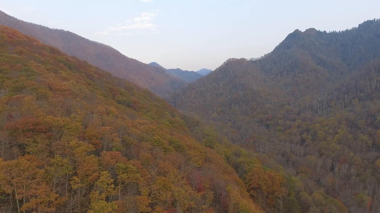 Aerial footage Smokey Mountains USA 4k