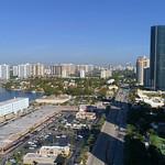 Aerial video highrise condominiums Sunny Isles Beach Florida
