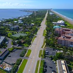 Aerial drone video luxury homes on Hutchinson Island Florida 4k