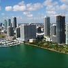 Aerial stock video Edgewater Miami 4k