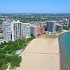 Edgewater Beach Chicago 4k drone shot