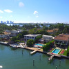 Aerial tour homes of the rich and famous Miami Beach