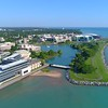 Aerial video Northwestern University Chicago 4k