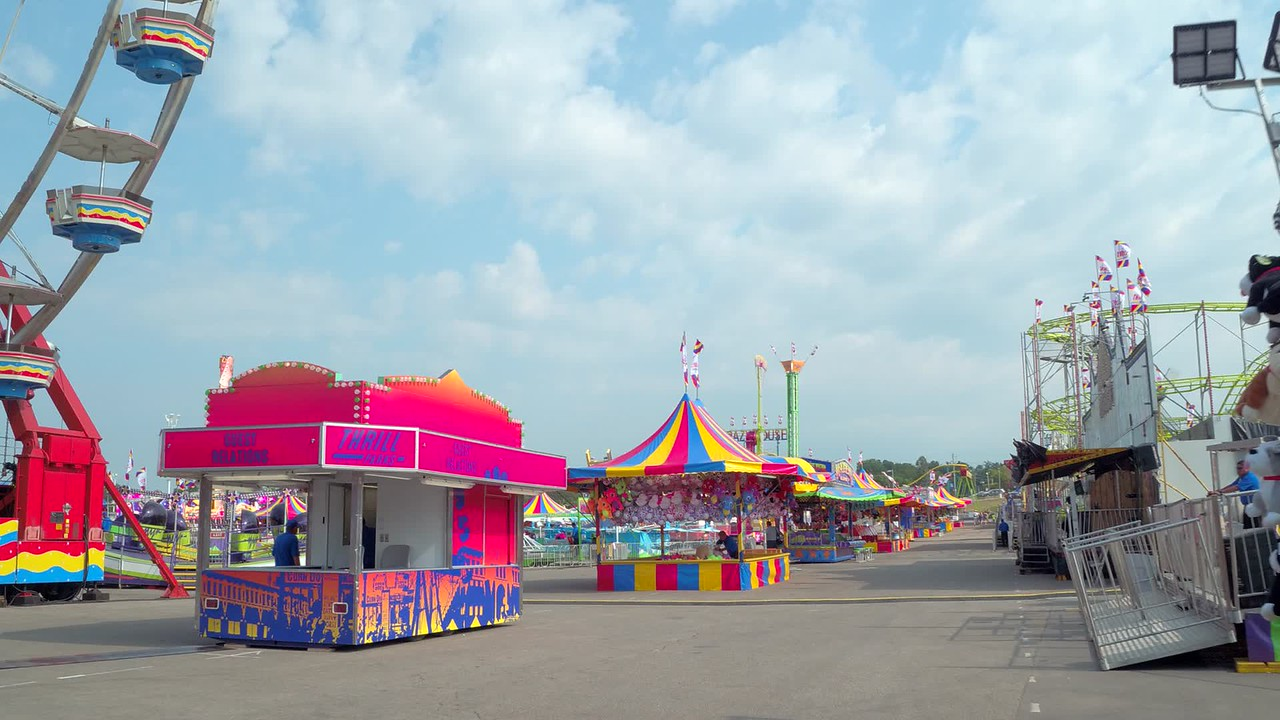 Carnival at the Iowa State Fair 4k video