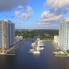 Miami real estate development and marina 4k