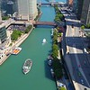 Aerial video Chicago River 4k 60p