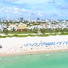 Aerial Miami Beach Ocean Drive drone establishing