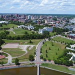 Aerial panoramic video Richmond VA 4k James River