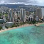 Aerial video beachfront resorts in Hawaii