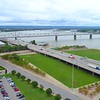 Aerial drone footage Downtown Louisville Kentucky 4k